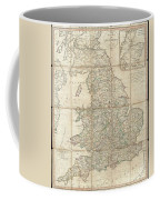 1790 Faden Map Of The Roads Of Great Britain Or England Coffee Mug