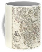 1794 Anville Map Of Ancient Greece  Coffee Mug