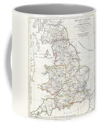 1794 Anville Map Of England In Ancient Roman Times Coffee Mug