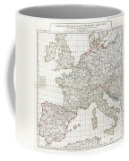 1794 Anville Map Of Europe In Late Roman Times Coffee Mug