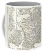 1794 Anville Map Of Gaul  Or France In Ancient Roman Times Coffee Mug