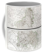 1797 Tardieu Map Of Champagne France Coffee Mug