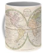 1798 Payne Map Of The World  Coffee Mug