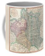 1799 Cary Map Of Poland Prussia And Lithuania  Coffee Mug