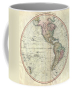 1799 Cary Map Of The Western Hemisphere  Coffee Mug