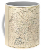 1799 Celement Cruttwell Map Of Germany Coffee Mug