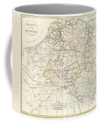 1799 Clement Cruttwell Map Of Belgium Or The Netherlands Coffee Mug