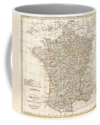 1799 Clement Cruttwell Map Of France In Departments Coffee Mug