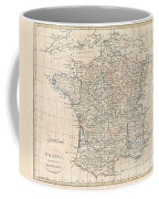 1799 Clement Cruttwell Map Of France In Provinces Coffee Mug