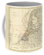 1799 Clement Cruttwell Map Of Holland Or The Netherlands Coffee Mug
