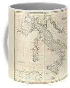 1799 Clement Cruttwell Map Of Italy Coffee Mug