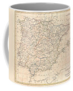 1799 Clement Cruttwell Map Of Spain And Portugal Coffee Mug