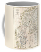 1799 Clement Cruttwell Map Of Sweden Denmark And Norway Coffee Mug