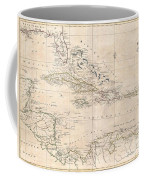 1799 Clement Cruttwell Map Of West Indies Coffee Mug