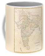 1799 Clement Crutwell Map Of Hindoostan Coffee Mug