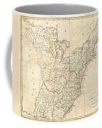 1799 Cruttwell Map Of The United States Of America Coffee Mug