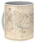 1799 Cruttwell Map Of The World On Mercators Projection Coffee Mug