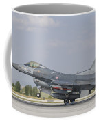 Turkish Air Force F-16 During Exercise Coffee Mug