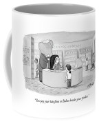 You Pay Your Late Fines Or Babar Breaks Coffee Mug by Harry Bliss