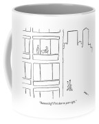 Outsourcing? First Door On Your Right Coffee Mug
