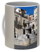 Another View Of An Old Unused Fountain In Taormina Sicily Coffee Mug