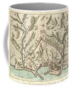 1800 Bardi Map Of Genoa Genova Italy  Coffee Mug