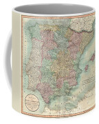 1801 Cary Map Of Spain And Portugal Coffee Mug