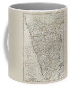 1804 German Edition Of The Rennel Map Of India Coffee Mug