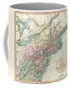 1806 Cary Map Of New England New York Pennsylvania New Jersey And Virginia Coffee Mug