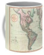 1806 Cary Map Of The Western Hemisphere  North America And South America Coffee Mug
