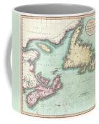 1807 Cary Map Of Nova Scotia And Newfoundland Coffee Mug