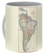 1807 Cary Map Of South America Coffee Mug