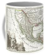 1810 Tardieu Map Of Mexico Texas And California Coffee Mug