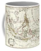 1810 Tardieu Map Of The East Indies Singapore Southeast Asia Sumatra Borneo Java Coffee Mug