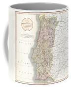 1811 Cary Map Of The Kingdom Of Portugal Coffee Mug