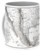 1811 Humboldt Map Of Mexico Texas Louisiana And Florida Coffee Mug