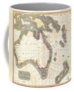 1814 Thomson Map Of Australia New Zealand And New Guinea Coffee Mug