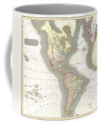1814 Thomson Map Of North And South America Coffee Mug