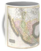1814 Thomson Map Of Texas Mexico  Louisiana Coffee Mug