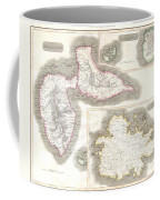 1815 Thomson Map Of Guadaloupe Antigua Marie Galante  West Indies Coffee Mug