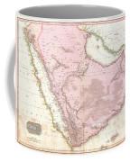 1818 Pinkerton Map Of Arabia And The Persian Gulf Coffee Mug