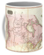 1818 Pinkerton Map Of British North America Or Canada Coffee Mug