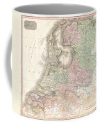 1818 Pinkerton Map Of Holland Or The Netherlands Coffee Mug