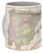 1818 Pinkerton Map Of Spain And Portugal Coffee Mug