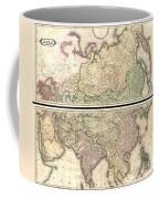 1820 Lizars Wall Map Of Asia Coffee Mug