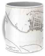 1820 Yates Map Of Albany Circa 1770 Coffee Mug