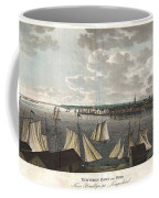 1824 Klinkowstrom View Of New York City From Brooklyn  Coffee Mug by Paul Fearn