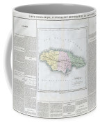 1825 Carez Map Of Jamaica  Coffee Mug
