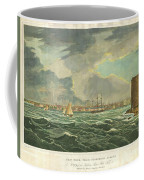 1825 Wall And Hill View Of New York City From The Hudson River Port Folio Coffee Mug