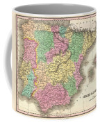 1827 Finely Map Of Spain And Portugal Coffee Mug